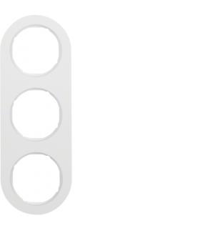 R.classic Ramka 3-krotna, biały, połysk Berker 10132089
