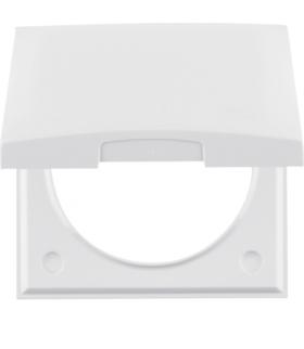 Integro Flow Ramka 1-krotna z pokrywą, biały, połysk Berker 918282509
