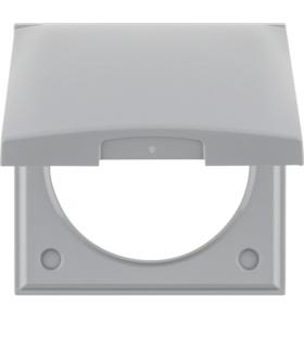 Integro Flow Ramka 1-krotna z pokrywą, szary, połysk Berker 918282507