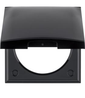 Integro Flow Ramka 1-krotna z pokrywą, czarny, połysk Berker 918282510