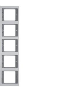 K.5 Ramka 5-krotna, pionowa alu Berker 13537003