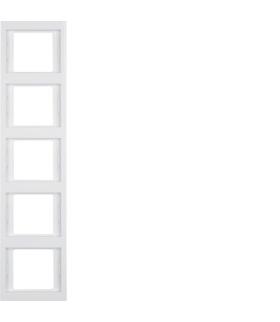 K.1 Ramka 5-krotna, pionowa, biały, połysk Berker 13537009