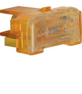 Akcesoria osprzęt Wkładka jarzeniowa, zacisk neutralny, IP44 230V/0,4mA, mechanizm, pomarańczowy Berker 167504