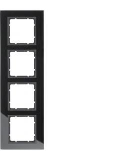 B.7 Ramka 4-krotna, szkło czarne/antracyt mat Berker 10146616