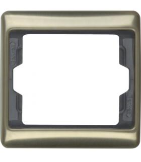 Arsys Ramka 1-krotna, jasny brąz, metal Berker 13140001