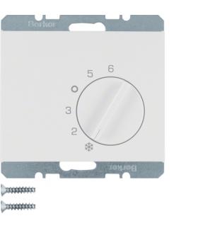 K.1 Regulator temperatury pomieszczenia z zestykiem zmiennym i elementem centralnym, biały Berker 20267109