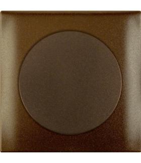 Integro Flow Elektroniczny potencjometr obrotowy 1-10 V z pokrętłem regulacyjnym, brązowy, połysk Berker 928912501