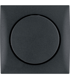 Integro Flow Elektroniczny potencjometr obrotowy 1-10 V z pokrętłem regulacyjnym, antracyt, mat Berker 928912505