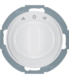 R.classic Łącznik żaluzjowy obrotowy z elementem centralnym i pokrętłem, 2-biegunowy, biały, połysk Berker 38122089