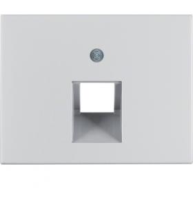 K.5 Płytka czołowa do gniazda przyłączeniowego UAE 1-kr komputerowego i telefonicznego, alu Berker 14077003