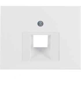 K.1 Płytka czołowa do gniazda przyłączeniowego UAE 1-kr komputerowego i telefonicznego, biały Berker 14077009