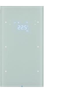 R.3 Sensor dotykowy 2-krotny z reg. temp., szkło,  biały