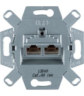 one.platform Mechanizm gniazda komputerowego UAE 2-kr (RJ45), ekranowane, kat.6a iso Berker 4587