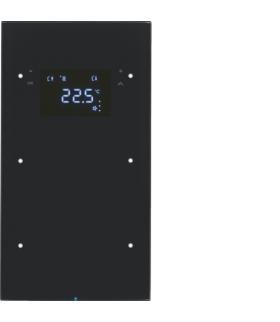 R.3 Sensor dotykowy 2-krotny z reg. temp., szkło,  czarny