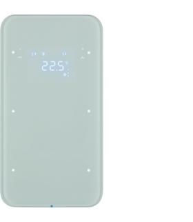 R.1 Sensor dotykowy 2-krotny z reg. temp., szkło,  biały