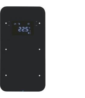 R.1 Sensor dotykowy 2-krotny z reg. temp., szkło,  czarny