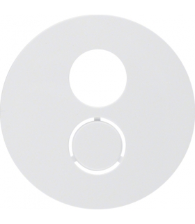 R.1/R.3 Płytka czołowa do gniazda głośnikowego, biały, połysk Berker 11962089