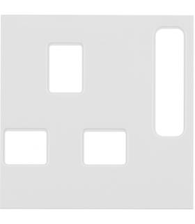 B.Kwadrat Płytka czołowa do gniazda z uziem. standard brytyjski, biały połysk Berker 3313078989