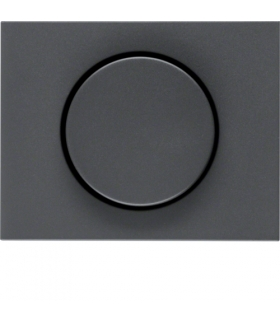 K.1 Płytka czołowa z pokrętłem regulacyjnym do ściemniacza obrotowego, antracyt mat, lakierowany Berker 11357006