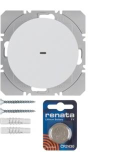 R.1/R.3 KNX RF quicklink Przycisk radiowy 1-kr płaski biały