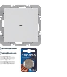 Q.x KNX RF quicklink Przycisk radiowy 1-kr płaski biały