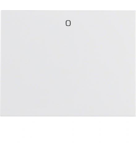 """K.1 Klawisz z nadrukiem """"0"""" do łącznika 1-klawiszowego, biały Berker 14257109"""