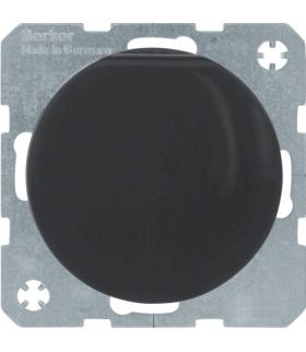 R.1/R.3 Gniazdo SCHUKO z pokrywą, samozaciski, czarny, połysk Berker 47512045