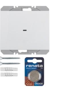 K.1 KNX RF quicklink Przycisk radiowy 1-kr płaski biały