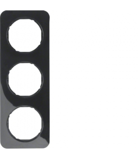 R.1 Ramka 3-krotna, czarny, połysk Berker 10132145
