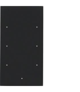 TS Sensor szklany dotykowy 3-krotny, szkło, czarny Berker 168305