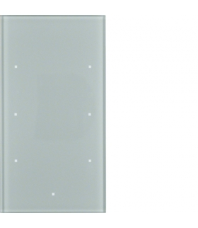 TS Sensor szklany dotykowy 3-krotny, szkło, alu Berker 168307