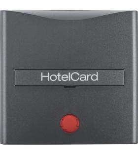 B.x Nasadka z nadrukiem i czerwoną soczewką do łącznika na kartę hotelową, antracyt, mat Berker 16401606