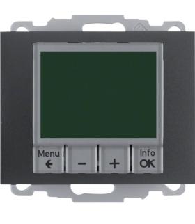 K.1 Regulator temperatury ze sterowaniem czasowym ze stykiem zwiernym i elementem centralnym, antracyt, mat Berker 20447106