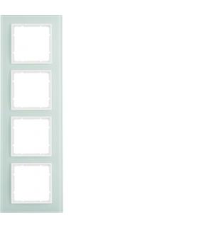 B.7 Ramka 4-krotna, szkło białe/biały mat Berker 10146909