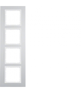 B.7 Ramka 4-krotna, alu/biały mat Berker 10146914
