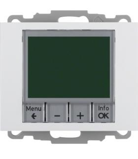 K.1 Regulator temperatury ze sterowaniem czasowym ze stykiem zwiernym i elementem centralnym, biały Berker 20447109