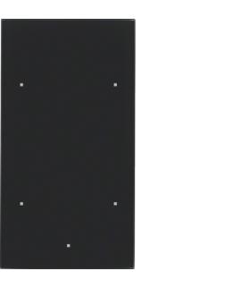 TS Sensor szklany dotykowy 2-krotny, szkło, czarny Berker 168205