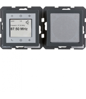 Q.x Radio Touch komplet, antracyt aksamit Berker 28806086