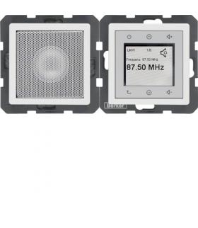 Q.x Radio Touch komplet, biały, aksamit Berker 28806089