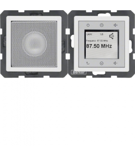 Q.x Radio Touch komplet, biały, aksamit Berker 28806089 - produkt wycofany