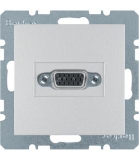 B.Kwadrat/B.7 Gniazdo VGA, zaciski śrubowe, alu, mat Berker 3315411404