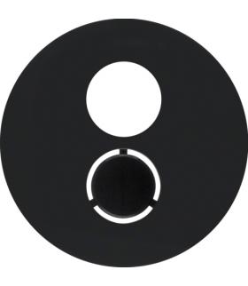 R.1/R.3 Płytka czołowa do gniazda głośnikowego, czarny, połysk Berker 11962045