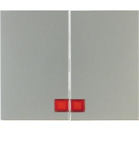 K.5 Klawisze z czerwoną soczewką do łącznika 2-klawiszowego, stal szlachetna nierdzewna Berker 14377004