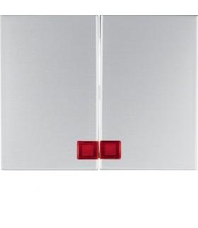K.5 Klawisze z czerwoną soczewką do łącznika 2-klawiszowego, alu Berker 14377003