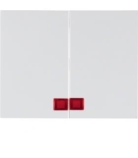 K.1 Klawisze z czerwoną soczewką do łącznika 2-klawiszowego, biały Berker 14377009