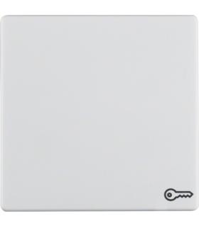 """Q.x Klawisz z nadrukiem symbolu """"klucz"""" do łącznika 1-klawiszowego, biały, aksamit Berker 16206069"""