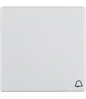 """Q.x Klawisz z nadrukiem symbolu """"dzwonek"""" do łącznika 1-klawiszowego, biały, aksamit Berker 16206059"""