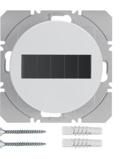 R.1/R.3 KNX RF Przycisk radiowy 1-kr płaski z baterią słoneczną Berker.Net, biały, połysk Berker 85655139