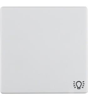 """Q.x Klawisz z nadrukiem symbolu """"światło"""" do łącznika 1-klawiszowego, biały, aksamit Berker 16206049"""