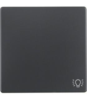 """Q.x Klawisz z nadrukiem symbolu """"światło"""" do łącznika 1-klawiszowego, antracyt, aksamit Berker 16206046"""